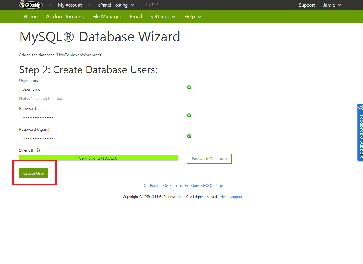 how to move a wordpress site  u00bb database import